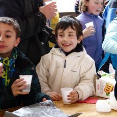 FESTA DI FINE CORSO  SCI SNOWBOARD A MONGINEVRO PROMOSSI DA VALANGA AZZURRA TORINO